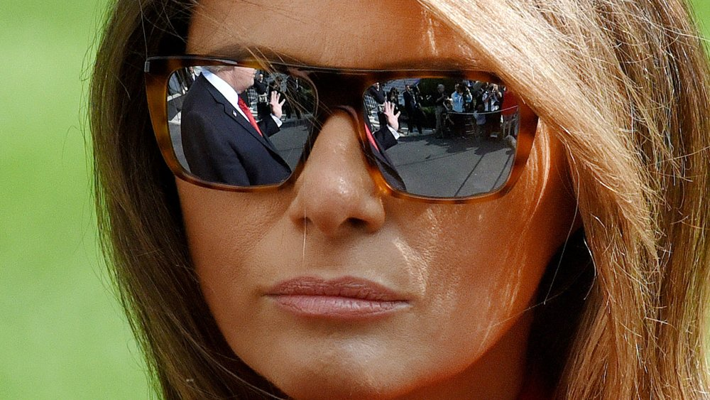 Why Melania Trump is rarely seen without her sunglasses