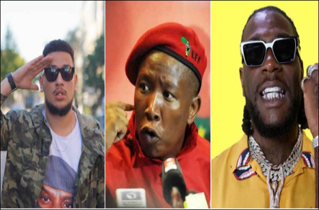 Xenophobia: South African Lawmaker, Malema Assures Burna Boy Of Safety As Local Artistes Kick Against His Performance
