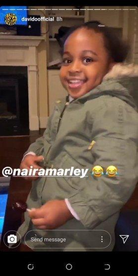 Young Marlian: Davido's Daughter, Hailey Adeleke Sings Naira Marley's S0apy Song (Video)