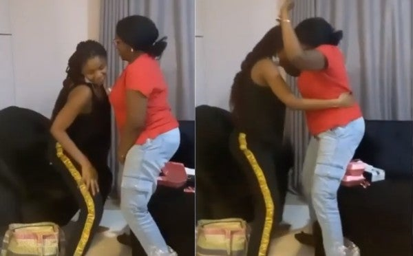 Simi Captured Teaching Her Mother How To Whine Her Waist (Watch Video)