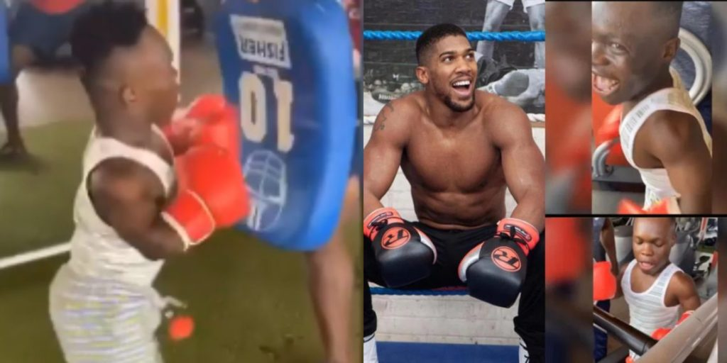 I Will Beat You, Shatta Bandle Sends Serious Warning To Anthony Joshua As He Trains Hard In The Gym (Watch Video)