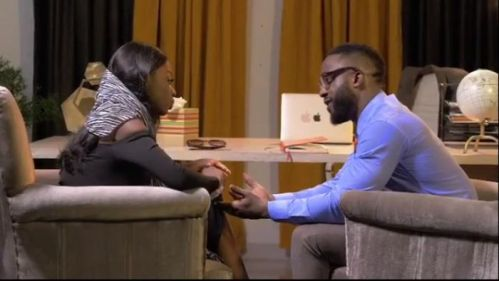 #BBNaija: Diane Captured Kissing Iyanya As She Features Him In Her Debut Nollywood Movie 'The Therapist'