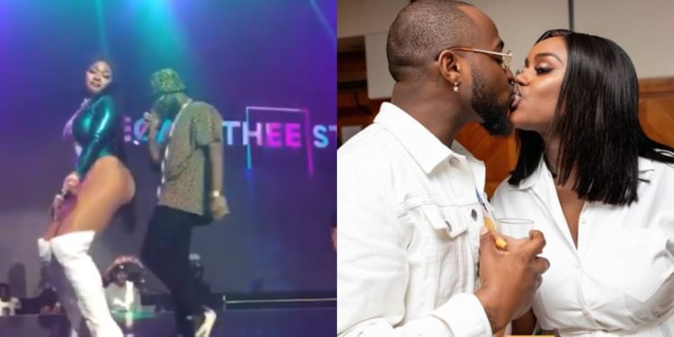 Respect For Chioma: Davido Refuses To Rock Megan From Behind On Stage (Watch Video)