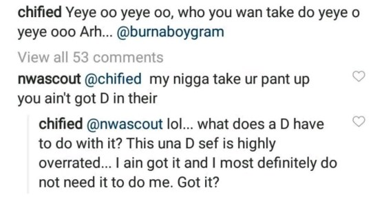 """""""D!ck Is Highly Overrated"""" – Ex Footballer, Chified Says"""