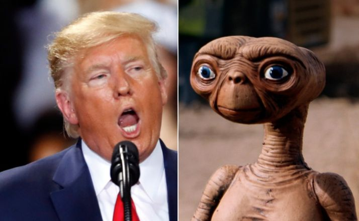Donald Trump Accidentally Attacked E.T. And Became A Hilarious Alien Meme