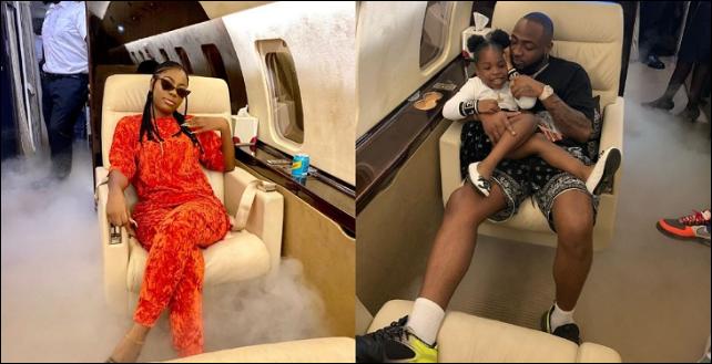 Davido Takes His Babymama, Sophia Momodu And Their Daughter On A Vacation (Photos)