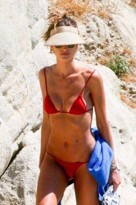 Izabel Goulart in Bikini on the beach in St Barts