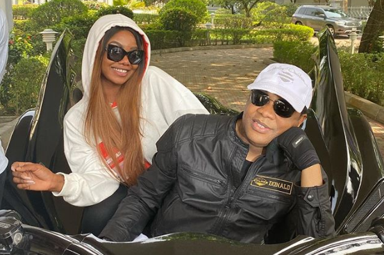 Tacha Seen Riding With Ex-Governor, Donald Duke On His Batman Bike In Calabar (Watch Video)