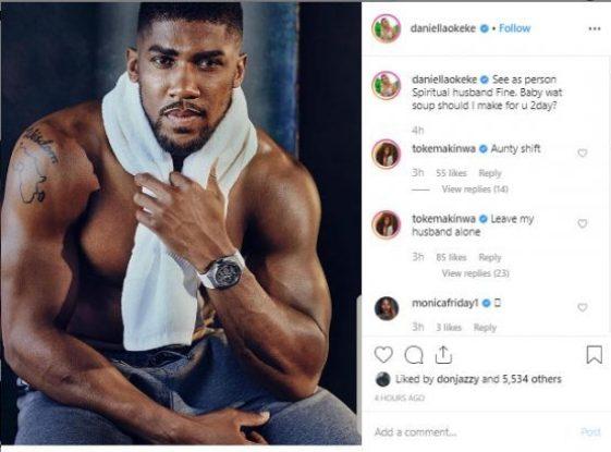 """""""Leave My Husband Alone"""" – Toke Makinwa Tells Daniella Okeke Over Anthony Joshua"""