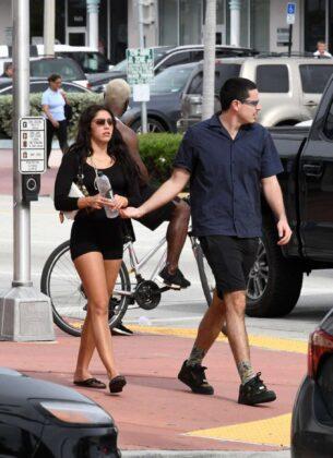Lourdes Leon in Black Tight Shorts – Out in Miami