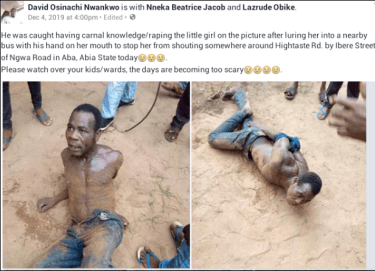 Man Beaten Mercilessly After He Was Caught R a p i n g A Little Girl In A Bus (Photos)