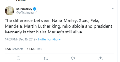 Naira Marley Reveals The Difference Between Him, 2pac, Fela, Mandela, Martin Luther King, MKO Abiola And President Kennedy