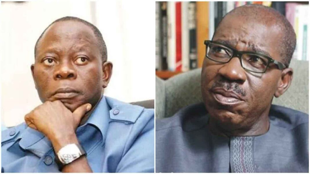 Nigeria news : Obaseki vs Oshiomhole President Buhari, IGP told what to do immediately