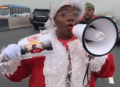 Singer, Teni Dresses As Santa Claus To Promote Her Show On 16th December In Lagos