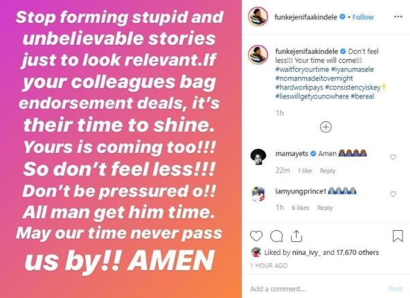 """""""Stop Forming Stupid And Unbelievable Stories Just To Be Relevant"""" – Actress, Funke Akindele Blasts Celebrities"""