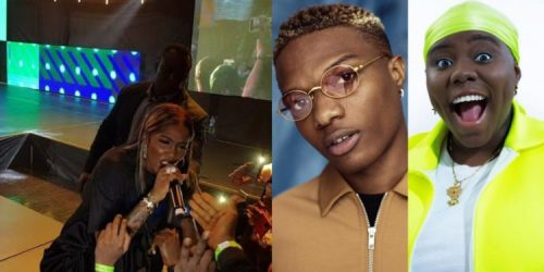 """""""Stop Messing With My Boo"""" – Tiwa Savage Warns Teni To Stay Off Her Wizkid, Calls Her Out On Stage (Watch Video)"""