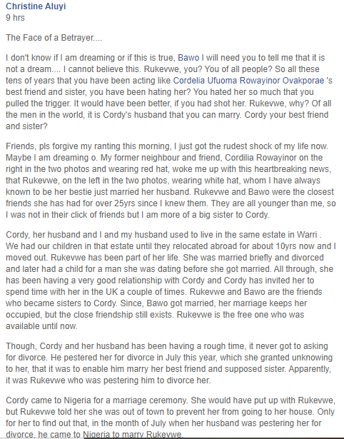 Woman Finds Out That Best Friend Of Over 25 Years Married Her Husband