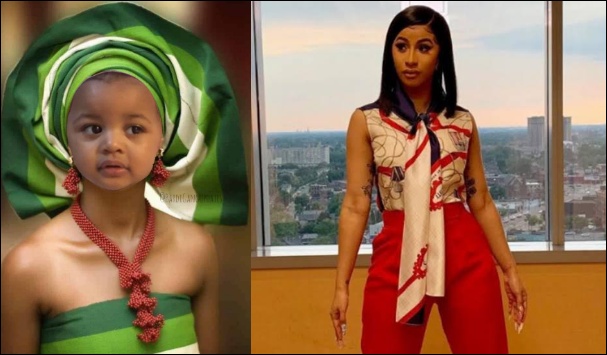 Cardi B Reacts After A Nigerian Photoshoped Her Daughter In Yoruba Outfit