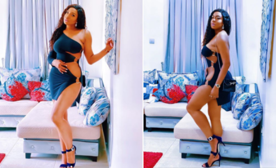 """Full Meal, Ain't No Small Chops But"" – Chika Ike Says As She Shares Photos Of Herself In A Risqué Barely-There Dress"
