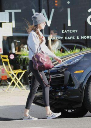Dakota Johnson in Black Leggings – Leaves a yoga class in Los Angeles