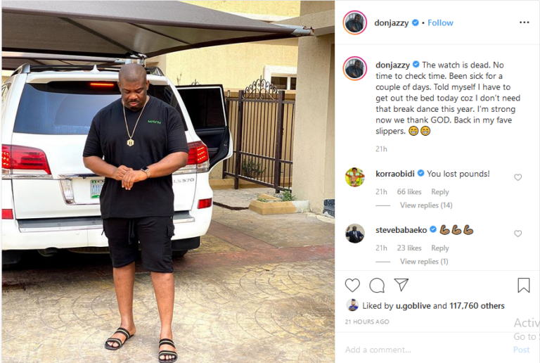 I Have Been Sick – Don Jazzy Said (Photo)