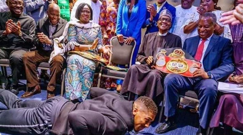 Femi Fani-Kayode, former Minister of Aviation blasts Anthony Joshua for prostrating before President Buhari