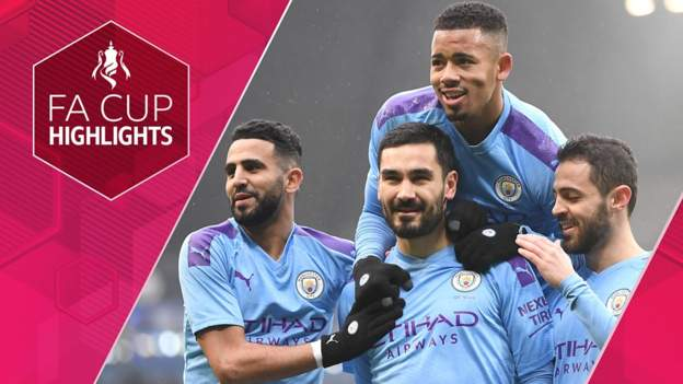 Football News : FA Cup: Manchester City 4-0 Fulham highlights
