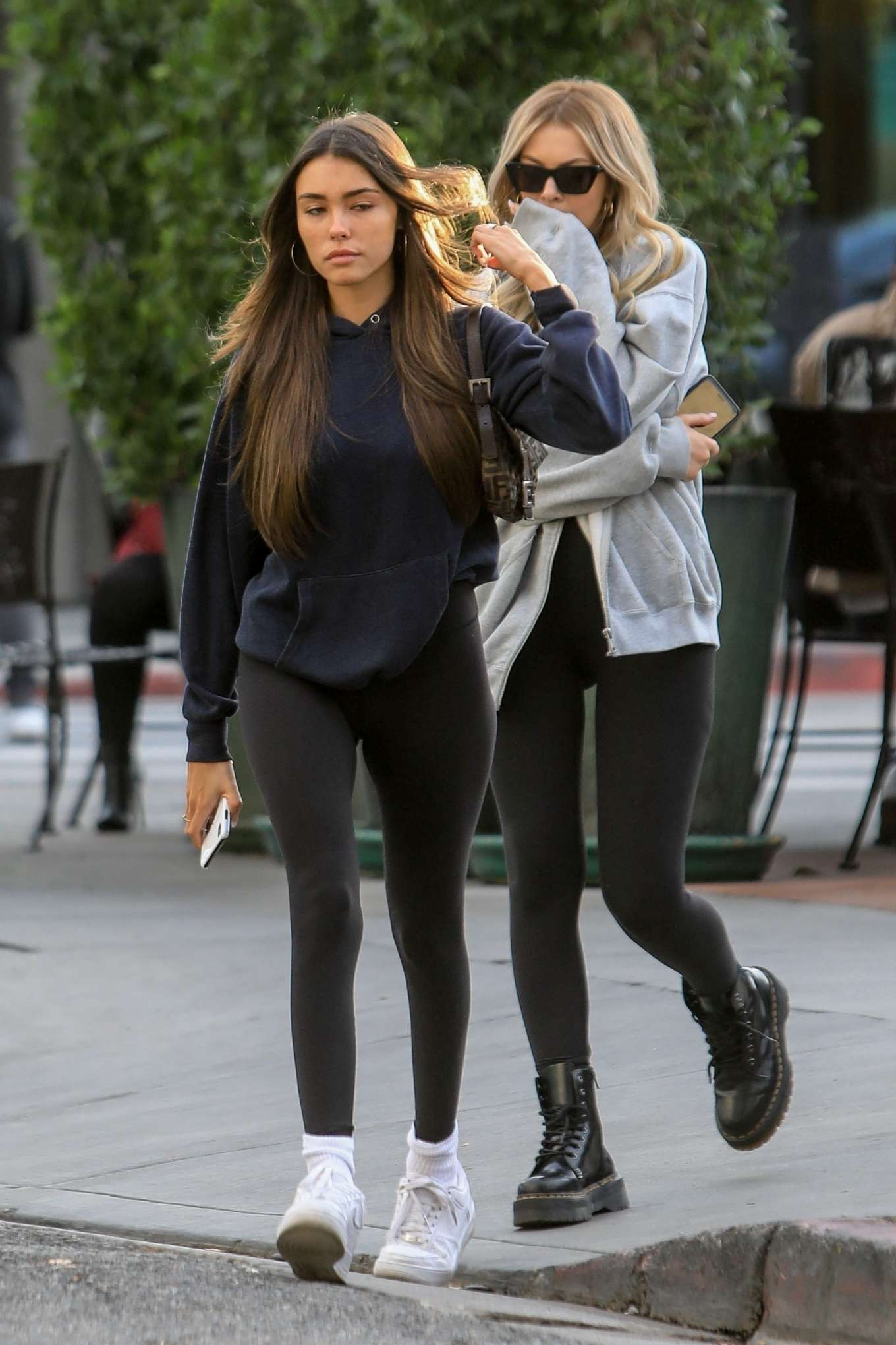 Madison Beer in Black Spandex – Out for lunch in West Hollywood