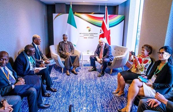 President Buhari meets UK's Prime Minister, Boris Johnson lindaikejisblog 3