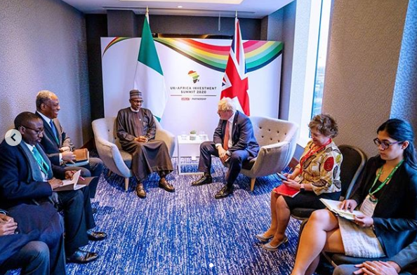 President Buhari meets UK's Prime Minister, Boris Johnson lindaikejisblog 5