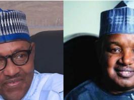 President, Major General Mohammadu Buhari (retd), and Kebbi State Governor, Atiku Bagudu