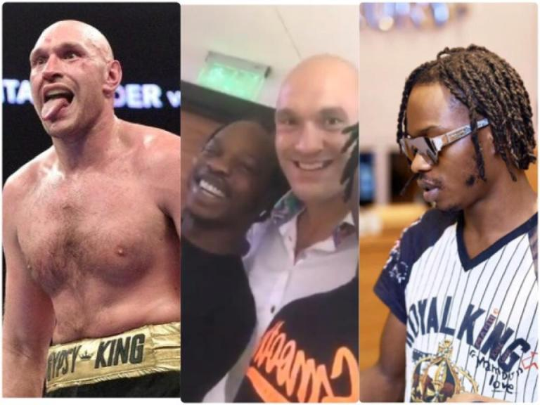 Naira Marley Video Of Himself Having Good Time With Tyson Fury After His Victory Over Deontay Wilder