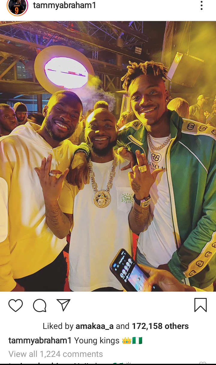 Chelsea Stars Tammy Abraham And Fikayo Tomori Pictured Hanging Out With Davido In Dubai (Photos Below)