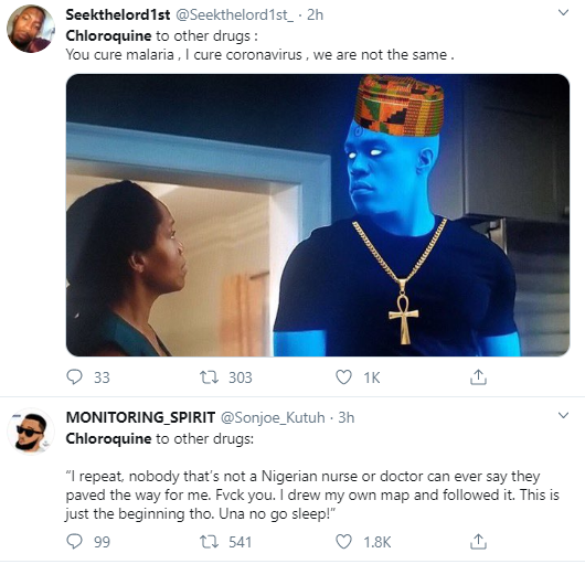Hilarious reactions from Nigerians as it's revealed that Chloroquine effectively inhibits coronavirus infection and spread