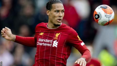 Van Dijk has helped Liverpool to a 25-point lead at the top of the Premier League
