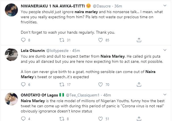 Naira Marley dragged after saying he does not believe in coronavirus lindaikejisblog 4