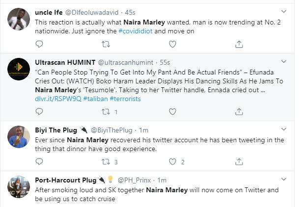 Naira Marley dragged after saying he does not believe in coronavirus lindaikejisblog 7
