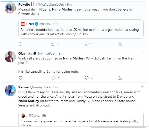 Naira Marley dragged after saying he does not believe in coronavirus lindaikejisblog 8