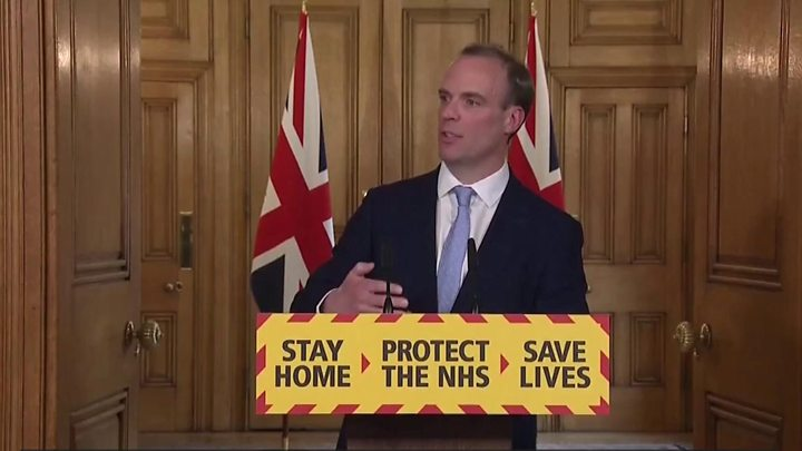 Coronavirus: Too early to consider lockdown exit strategy, says Raab