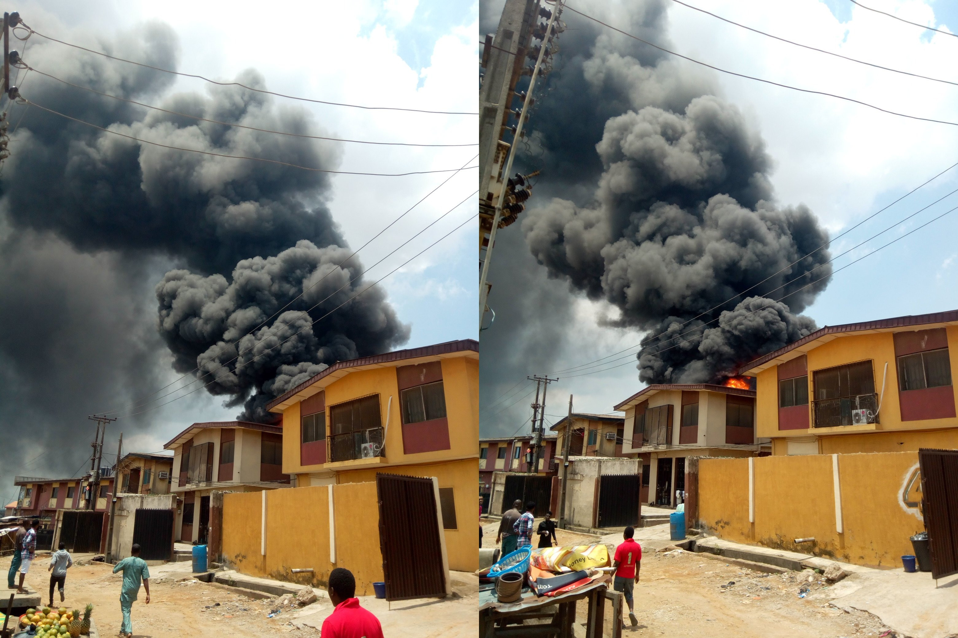 latest news: NNPC petrol station in Lagos gutted by fire (photos)