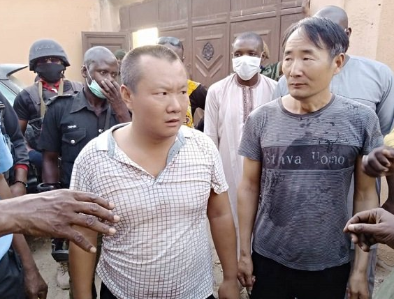 Two Chinese nationals arrested for illegal mining in Zamfara, identified as Wang and Chu