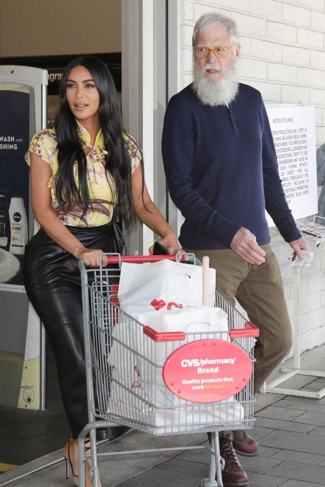 Kim Kardashian and David Letterman – Shopping candids in Calabasas