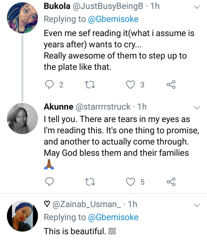 Twitter user narrates how her brother repaid their late dad's friends after they contributed to send him to school