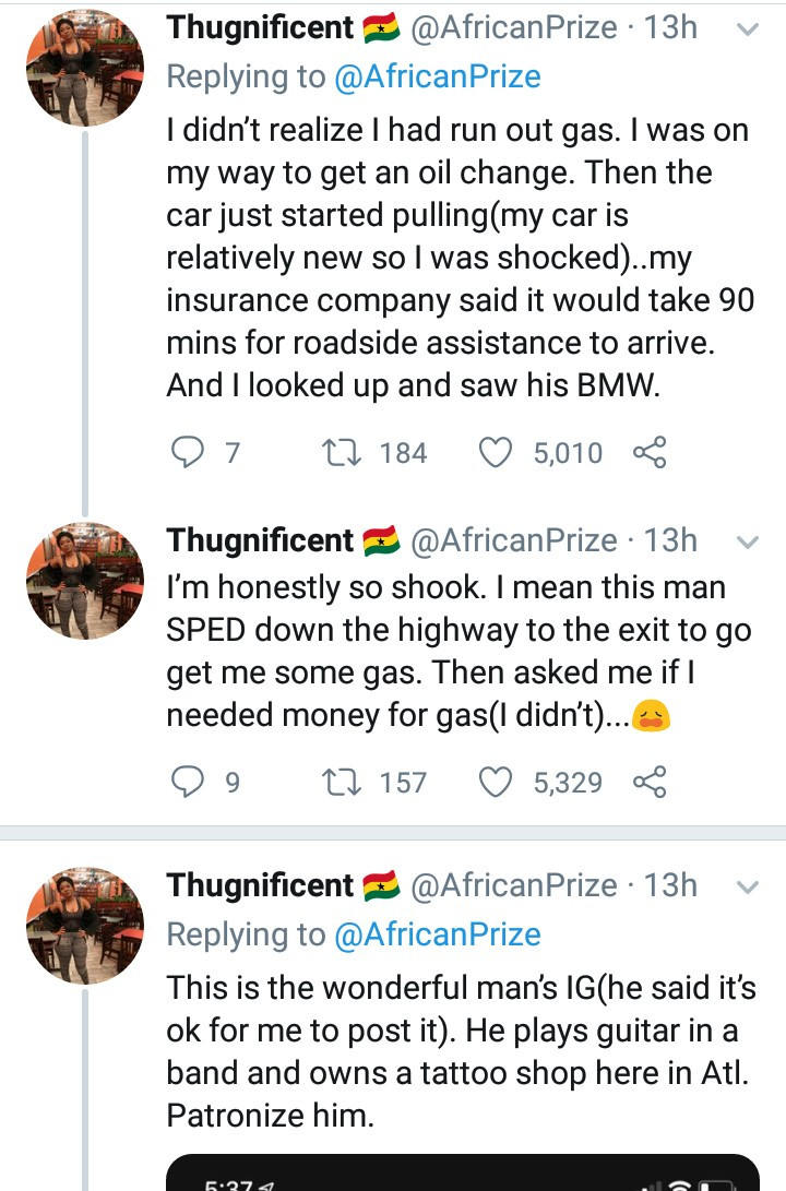 Black woman narrates her encounter with a white man who stopped to help her because he didn't want the cops messing with her