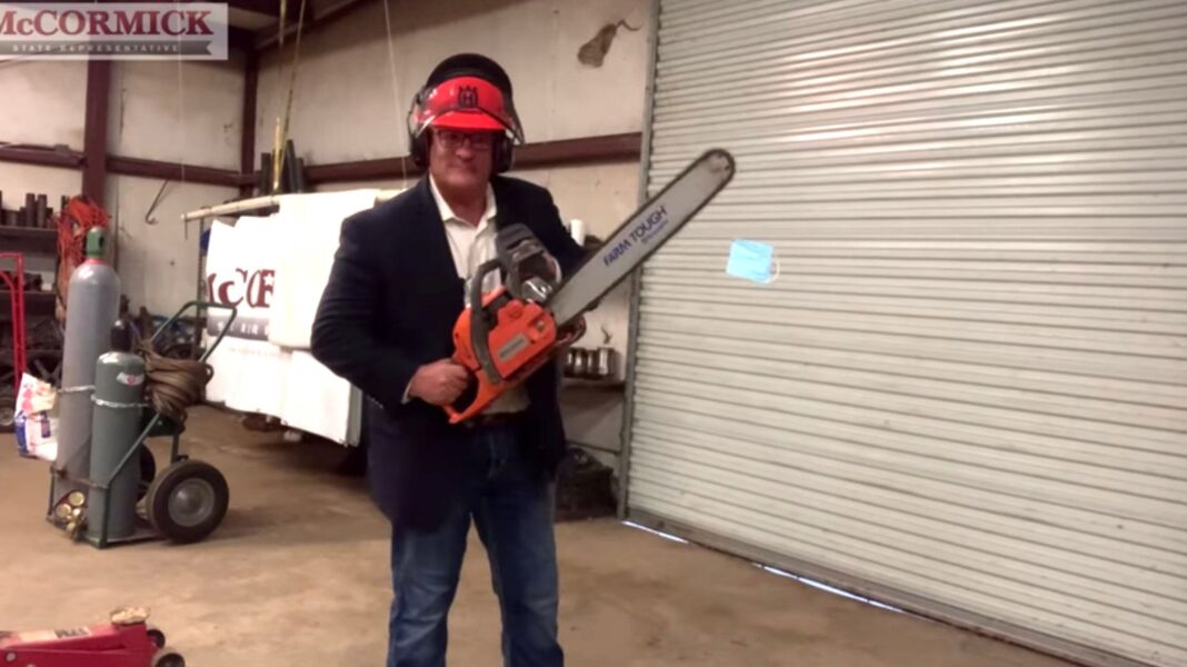 GOP Rep. Becomes Weirdly Violent With Mask, Rants About Nazis In Bonkers Video