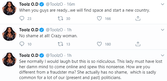 """How Are You Different From A Fraudster?"""" – Rapper Falz And Toolz Tackle Former Minister, Diezani Over Her Yahoo Boys Statement"""