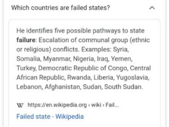Nigeria Added To Wikipedia's List Of Failed States (Details)