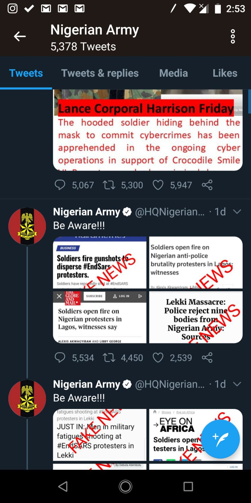 #EndSars The Nigeria army Keep on Lying about the Shooting of peaceful protesters, calling it fake news