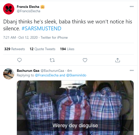 Angry Nigerians call out Dban