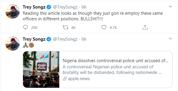 The people are saying you're full of shit - Trey Songz calls out Buhari wowplus.net